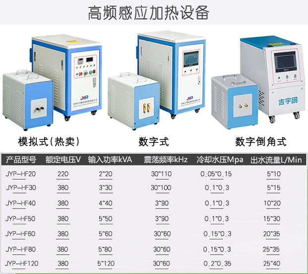 高频感应加热机产品型号与参数